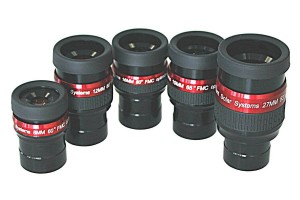 Lunt Set of 5 H-Alpha Optimised Eyepieces, 8mm up to 27mm