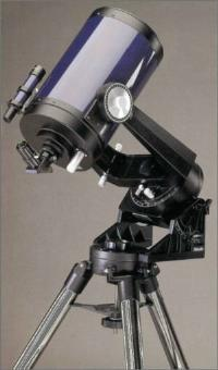 "Meade's well known 8"" model was part of the ""2000"" line introduced in 1980, and model 2080 became the designation for the basic fork mounted f/10 optical tube. The original 2080 drive consisted of a worm gear system with 180 tooth main gear driven by a synchronous AC motor. This was offered without wedge and tripod but included coated optics, a 6x30 finder, 1 ¼"" star diagonal and 25mm eyepiece. This basic telescope was also available as the 2080B having multi-coated optics for better light transmission. In 1984 the company improved the machining on the worm gear drive and introduced the ""LX"" drive. Later the same year they marketed this telescope with a 8x50 finder and erfle eyepiece, along with the addition of improved coatings on the optical surfaces as the LX2. The appearance both models visually is identical to the standard 2080 except for the ""LX"" mark."